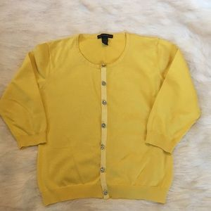 Yellow XL Grace Elements Cardigan